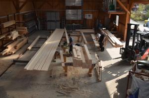 Fertigung Holzwände
